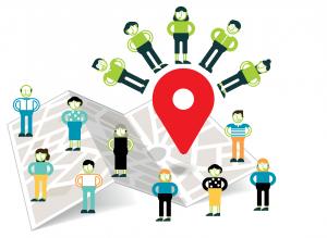 Graphic representation of a neighbourhood team